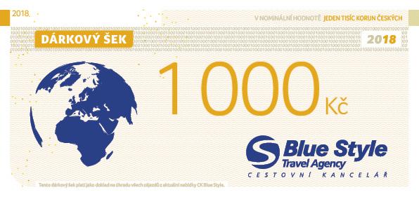 Dárkový šek 1000 Kč