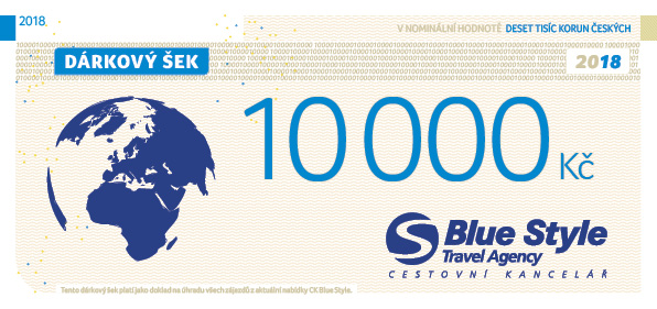 Dárkový šek 10000 Kč