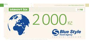 Dárkový šek 2000 Kč