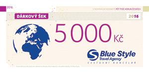 Dárkový šek 5000 Kč